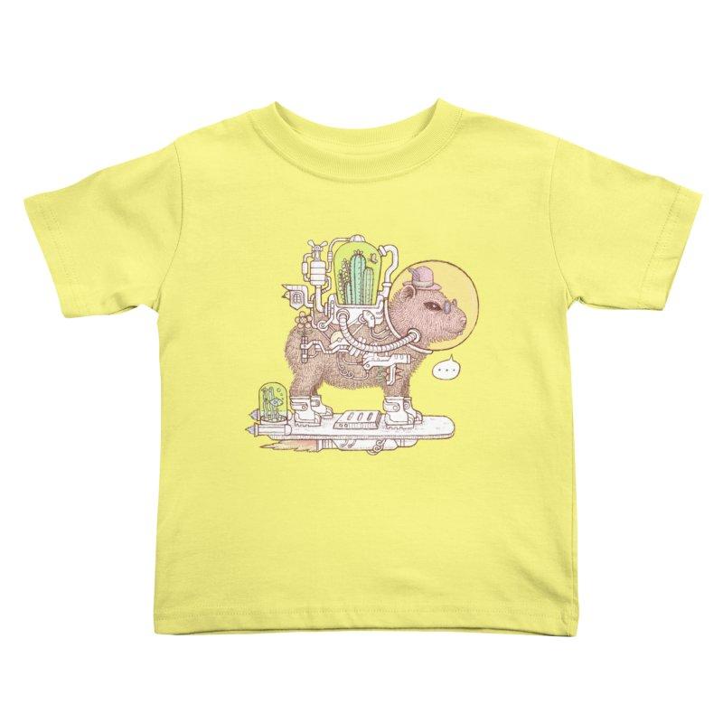 capybara space suit Kids Toddler T-Shirt by makapa's Artist Shop