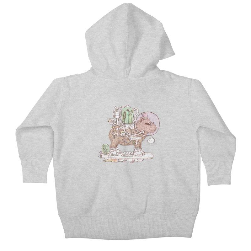 capybara space suit Kids Baby Zip-Up Hoody by makapa's Artist Shop