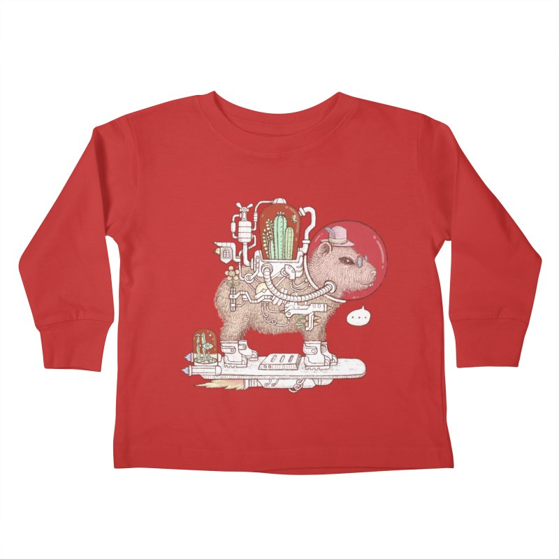 capybara space suit Kids Toddler Longsleeve T-Shirt by makapa's Artist Shop