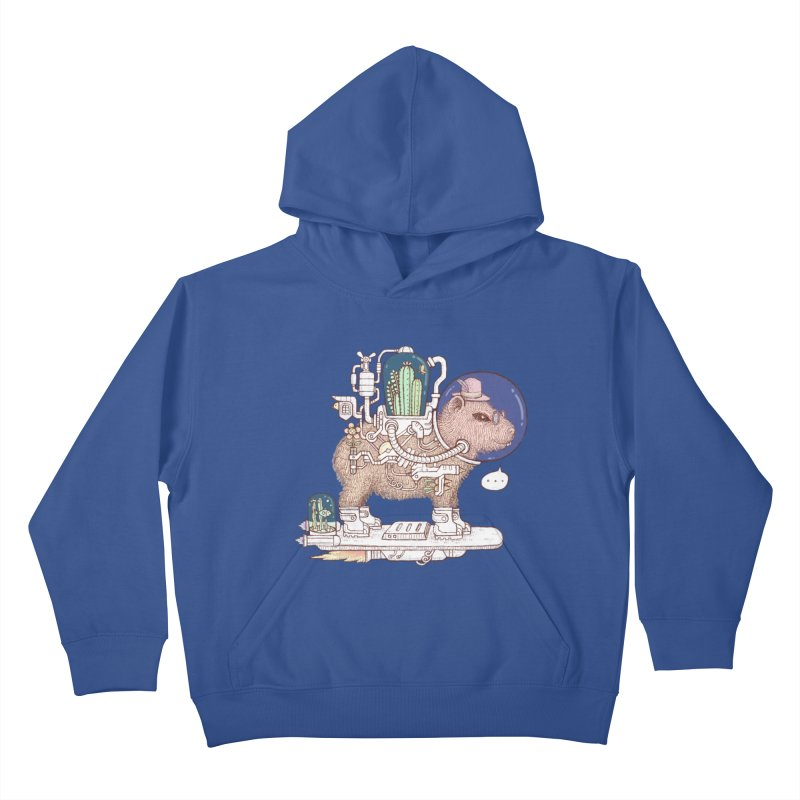 capybara space suit Kids Pullover Hoody by makapa's Artist Shop