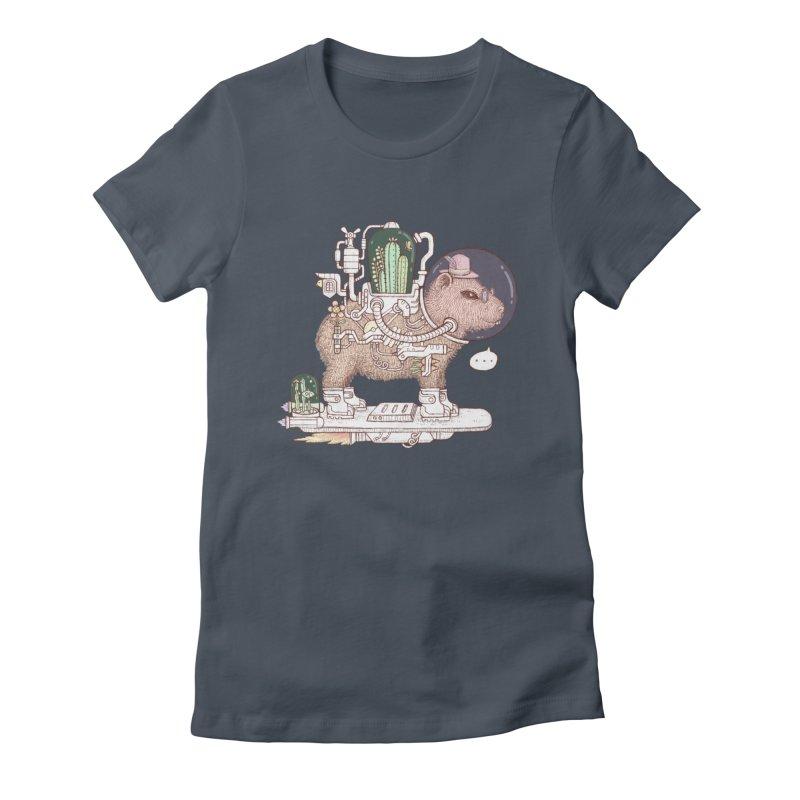 capybara space suit Women's T-Shirt by makapa's Artist Shop