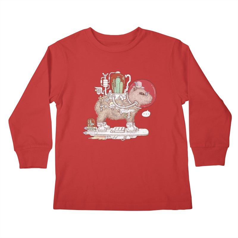 capybara space suit Kids Longsleeve T-Shirt by makapa's Artist Shop
