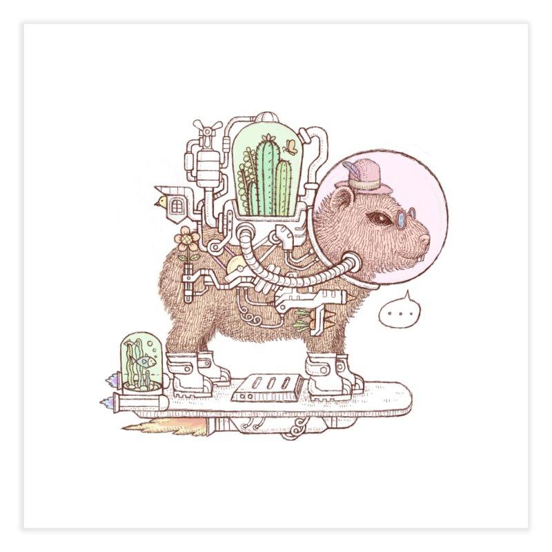 capybara space suit Home Fine Art Print by makapa's Artist Shop
