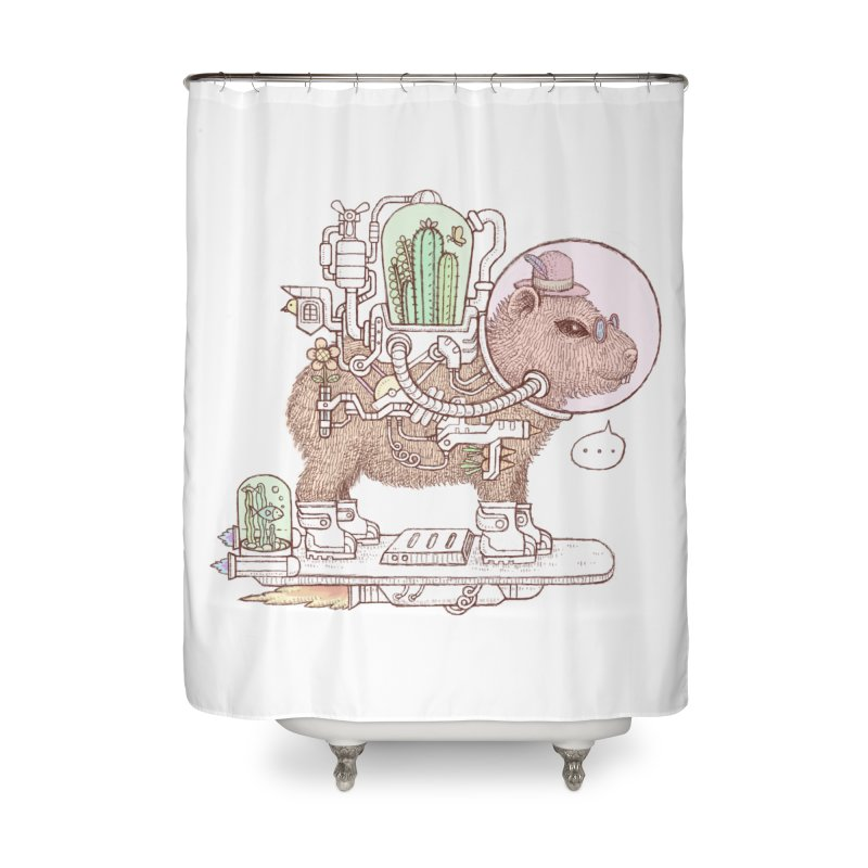 capybara space suit Home Shower Curtain by makapa's Artist Shop