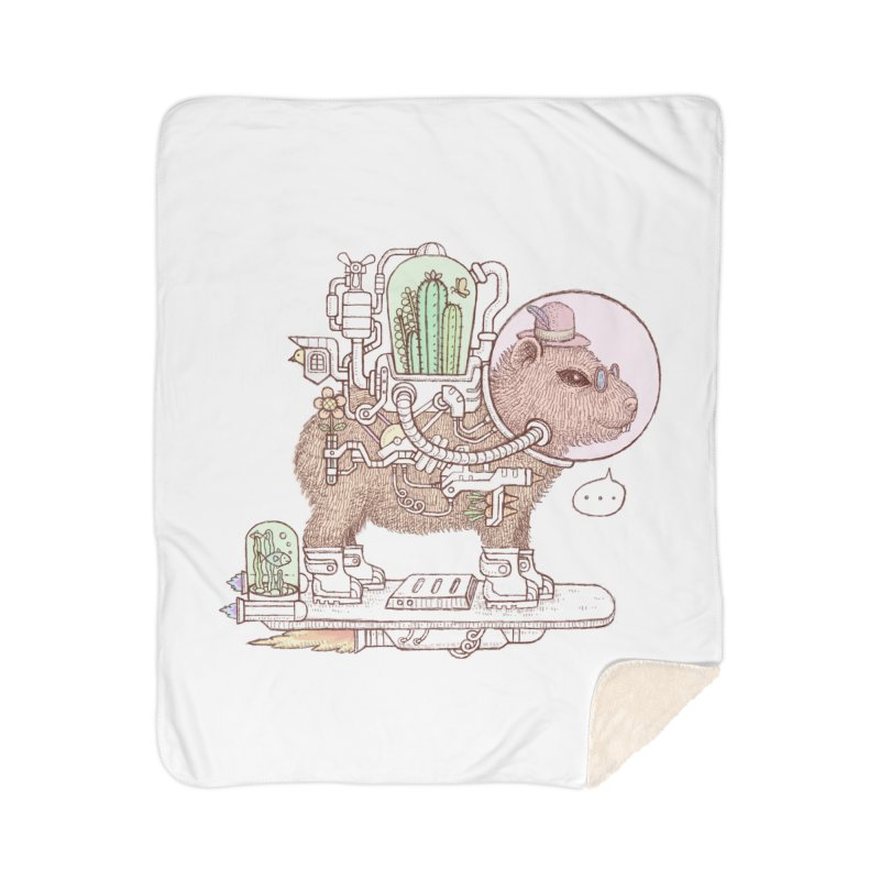 capybara space suit Home Blanket by makapa's Artist Shop