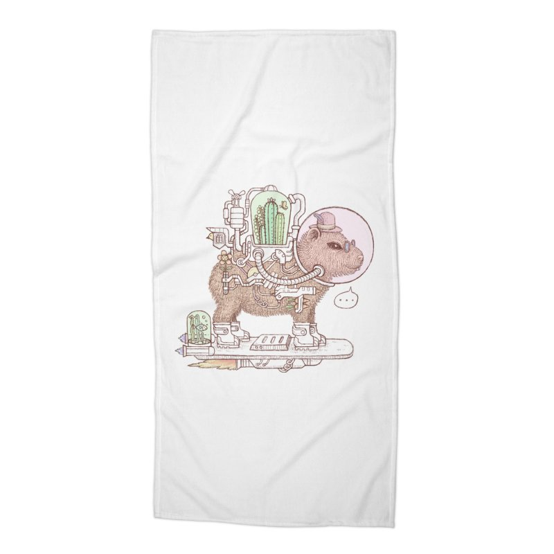 capybara space suit Accessories Beach Towel by makapa's Artist Shop
