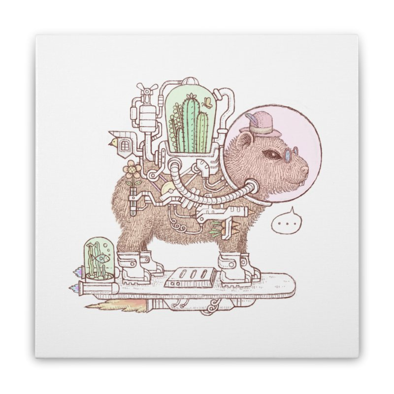 capybara space suit Home Stretched Canvas by makapa's Artist Shop