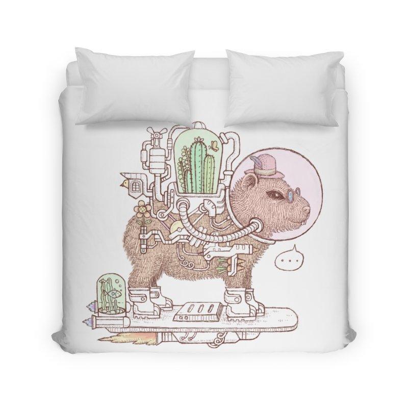 capybara space suit Home Duvet by makapa's Artist Shop