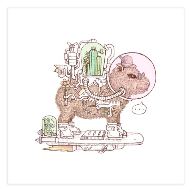 capybara space suit Home Fine Art Print by makapa's Artist Shop