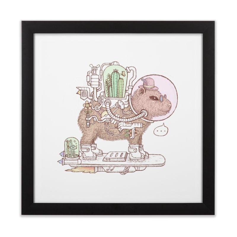 capybara space suit Home Framed Fine Art Print by makapa's Artist Shop