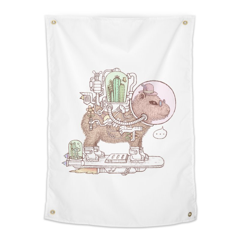 capybara space suit Home Tapestry by makapa's Artist Shop