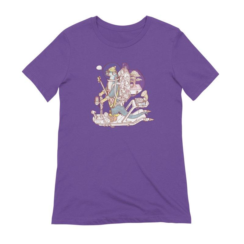 Otter space suit Women's Extra Soft T-Shirt by makapa's Artist Shop
