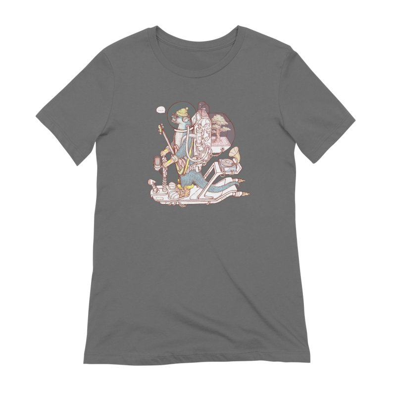 Otter space suit Women's Extra Soft T-Shirt by makapa's Artist Shop
