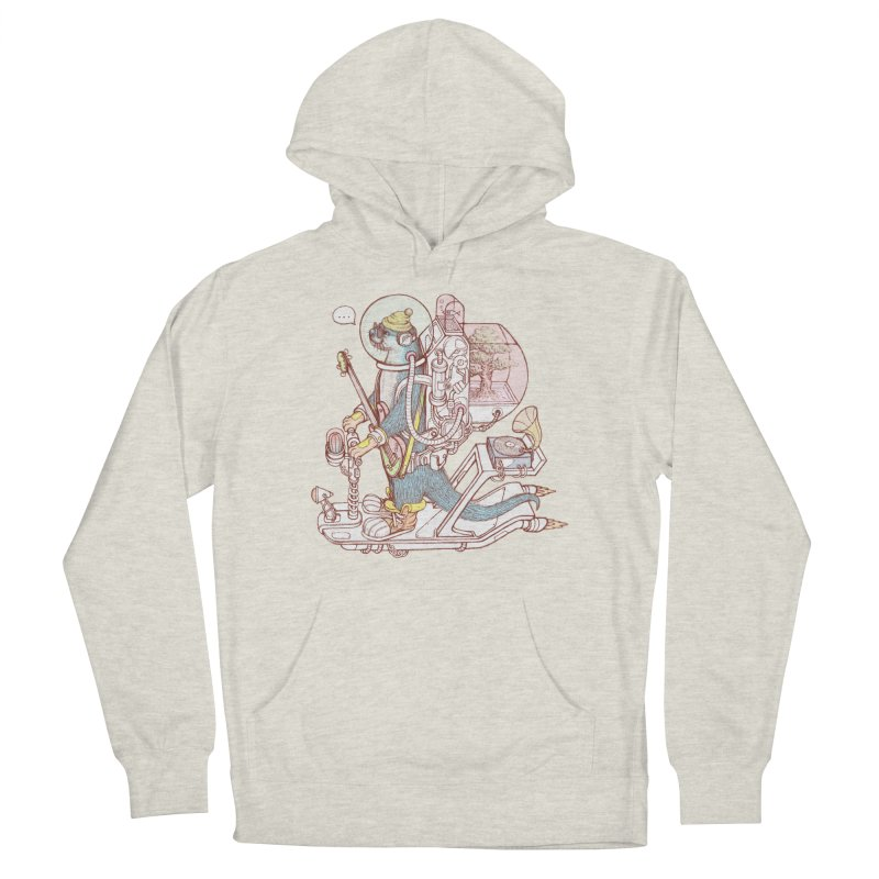 Otter space suit Men's French Terry Pullover Hoody by makapa's Artist Shop