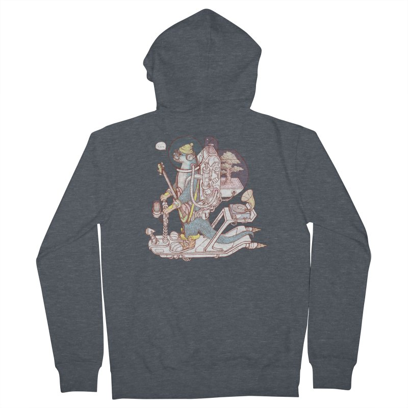 Otter space suit Women's French Terry Zip-Up Hoody by makapa's Artist Shop