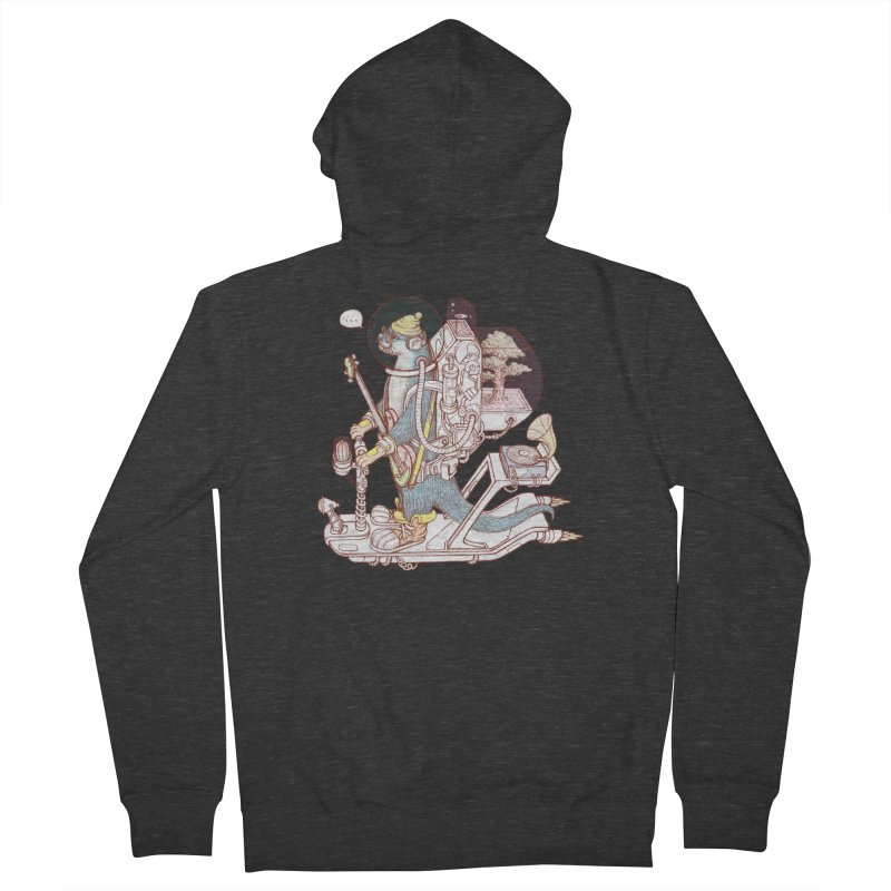 Otter space suit Men's French Terry Zip-Up Hoody by makapa's Artist Shop