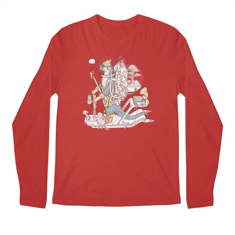 Otter space suit Men's Regular Longsleeve T-Shirt by makapa's Artist Shop
