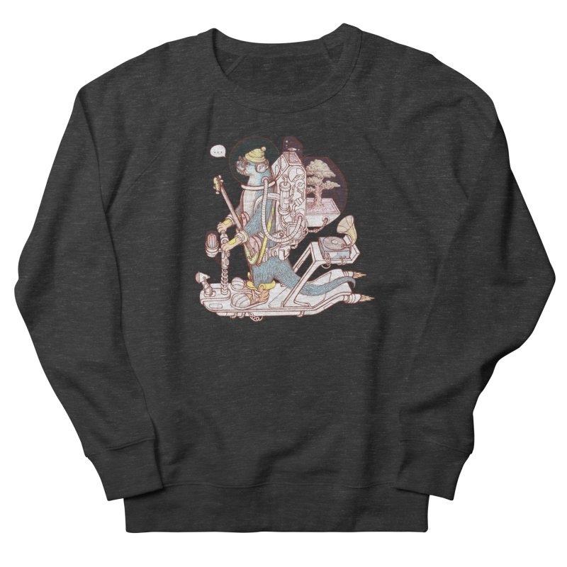 Otter space suit Men's French Terry Sweatshirt by makapa's Artist Shop