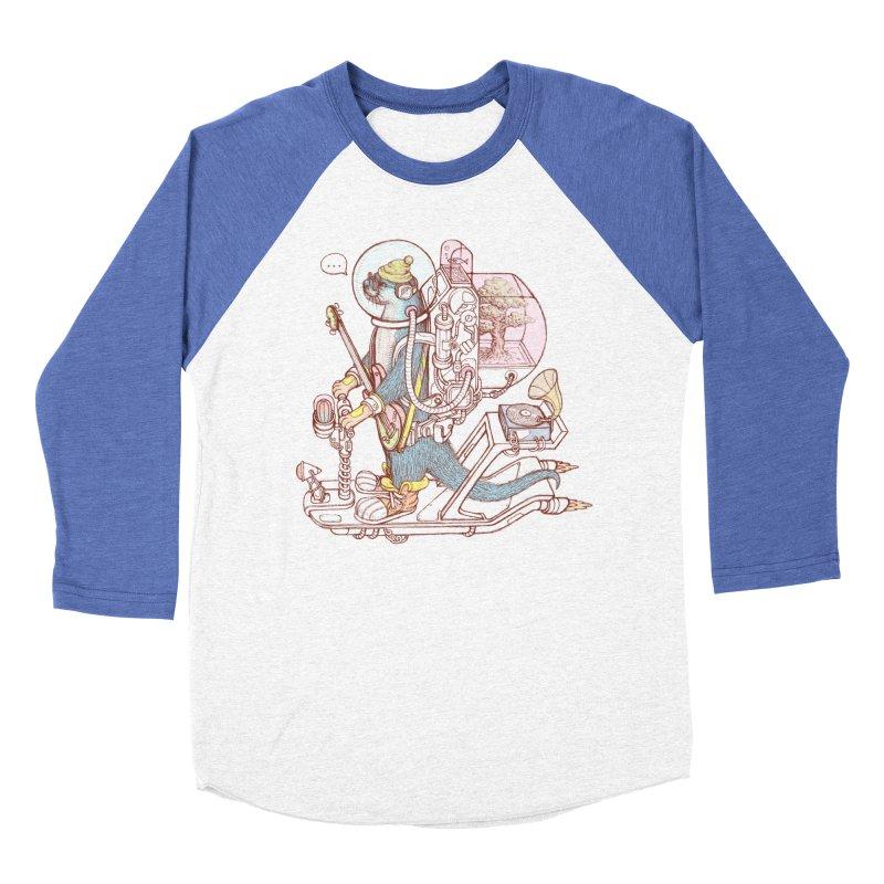 Otter space suit Women's Baseball Triblend Longsleeve T-Shirt by makapa's Artist Shop