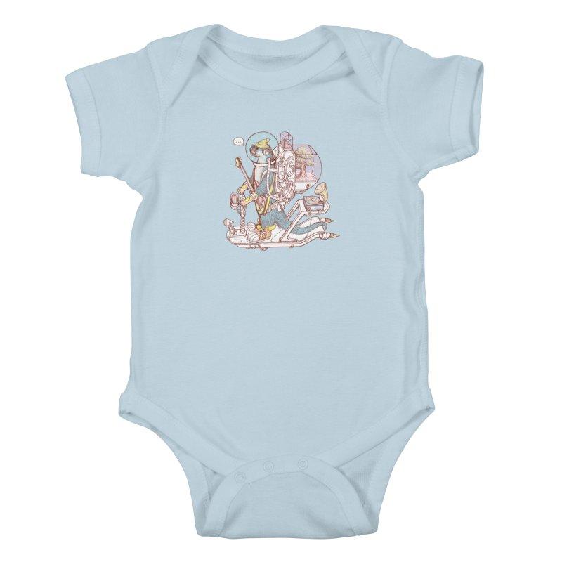 Otter space suit Kids Baby Bodysuit by makapa's Artist Shop