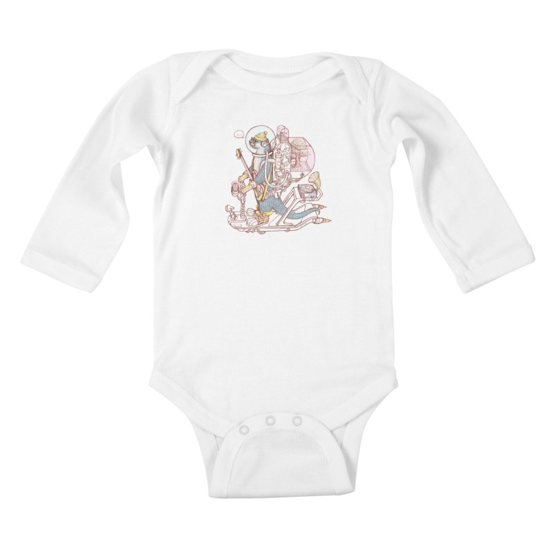 Otter space suit Kids Baby Longsleeve Bodysuit by makapa's Artist Shop
