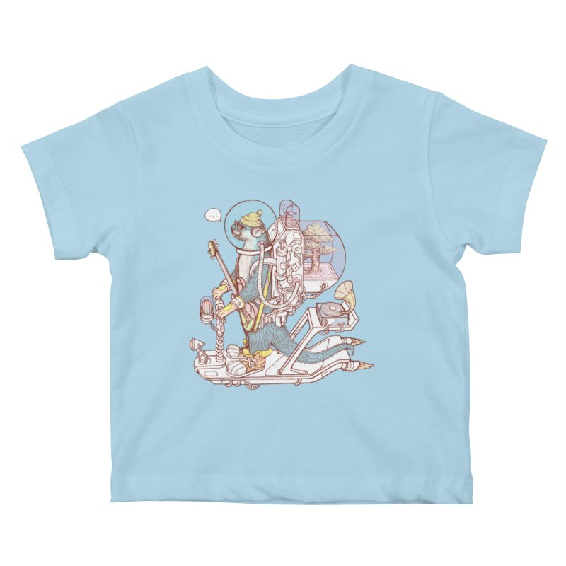 Otter space suit Kids Baby T-Shirt by makapa's Artist Shop