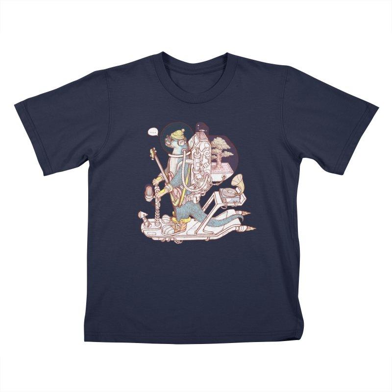 Otter space suit Kids T-Shirt by makapa's Artist Shop