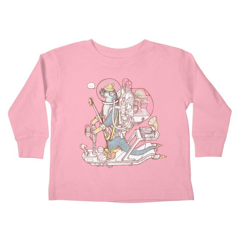 Otter space suit Kids Toddler Longsleeve T-Shirt by makapa's Artist Shop