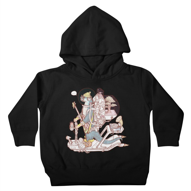 Otter space suit Kids Toddler Pullover Hoody by makapa's Artist Shop
