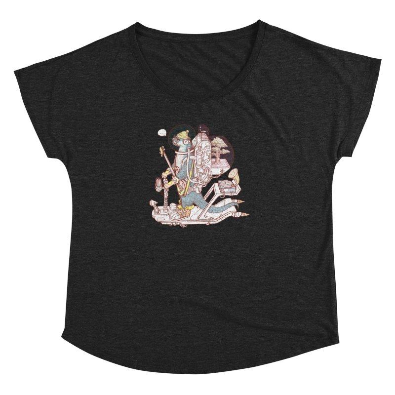 Otter space suit Women's Dolman Scoop Neck by makapa's Artist Shop