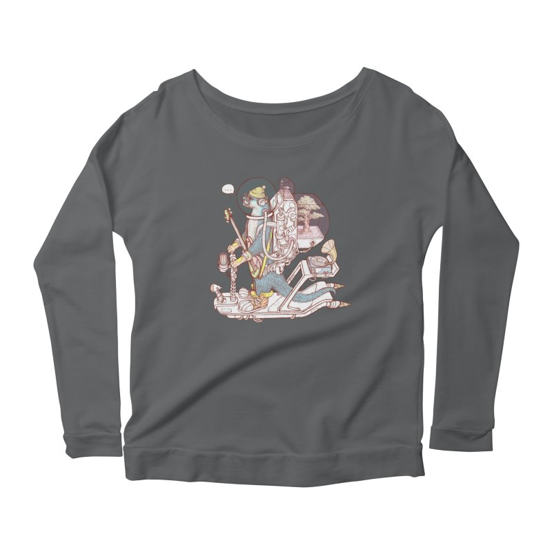 Otter space suit Women's Scoop Neck Longsleeve T-Shirt by makapa's Artist Shop