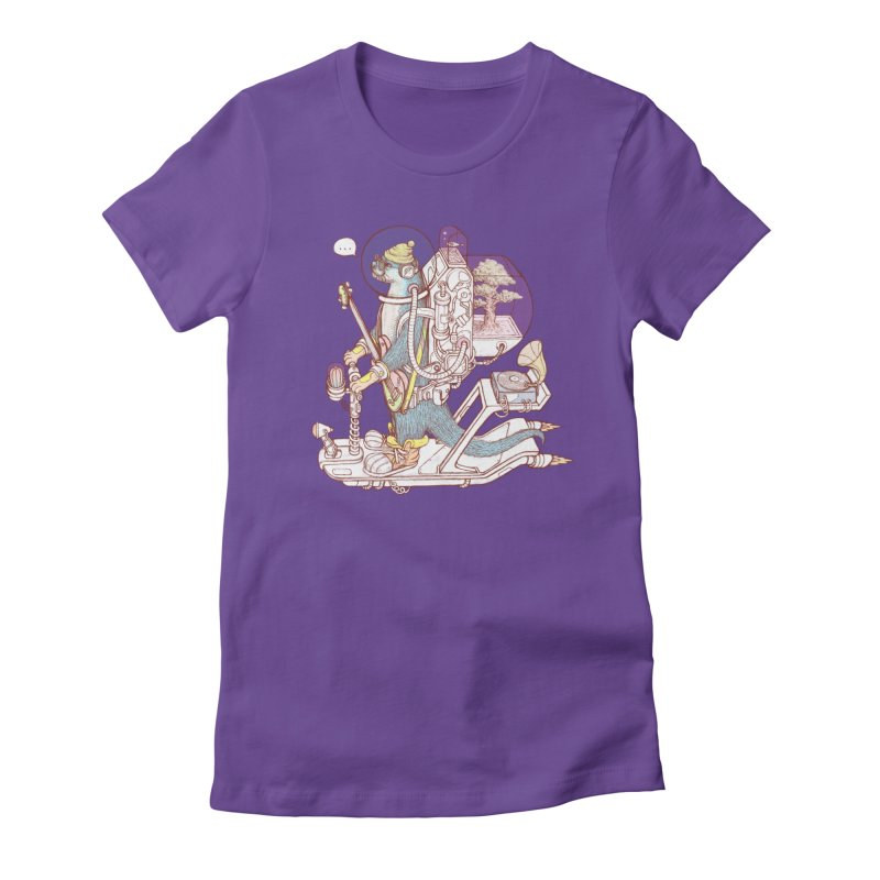 Otter space suit Women's Fitted T-Shirt by makapa's Artist Shop