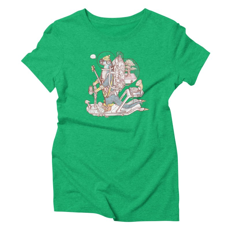 Otter space suit Women's Triblend T-Shirt by makapa's Artist Shop