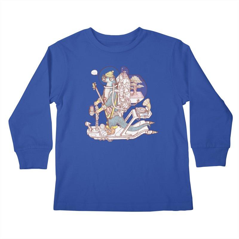 Otter space suit Kids Longsleeve T-Shirt by makapa's Artist Shop