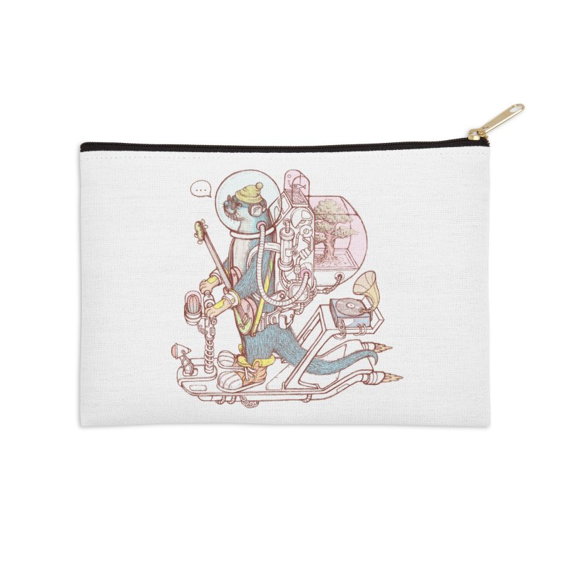 Otter space suit Accessories Zip Pouch by makapa's Artist Shop