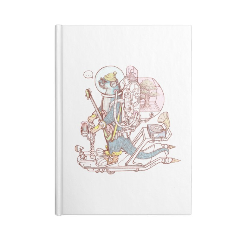 Otter space suit Accessories Lined Journal Notebook by makapa's Artist Shop