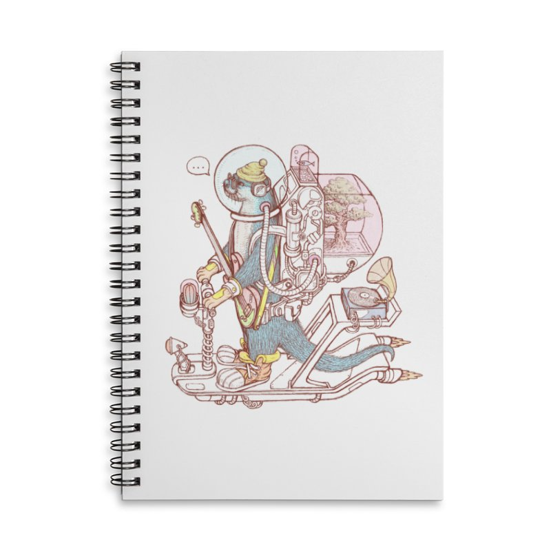Otter space suit Accessories Lined Spiral Notebook by makapa's Artist Shop