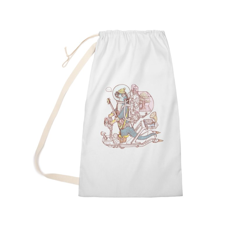 Otter space suit Accessories Laundry Bag Bag by makapa's Artist Shop