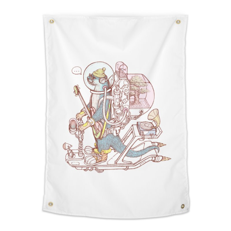 Otter space suit Home Tapestry by makapa's Artist Shop