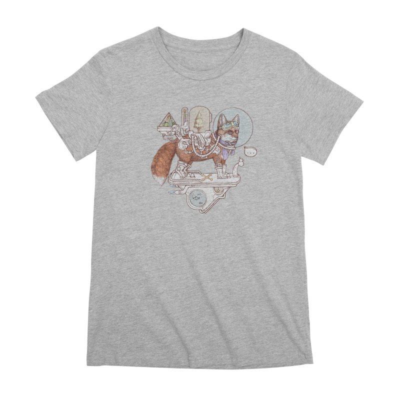 fox space suit Women's Premium T-Shirt by makapa's Artist Shop