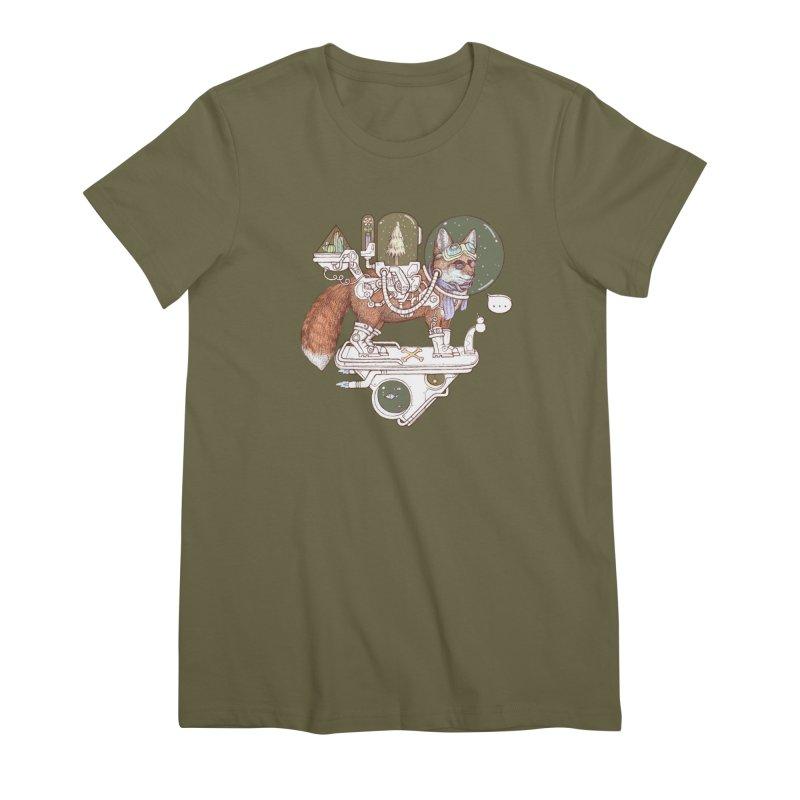 fox space suit Women's Premium T-Shirt by makapa's Artist Shop