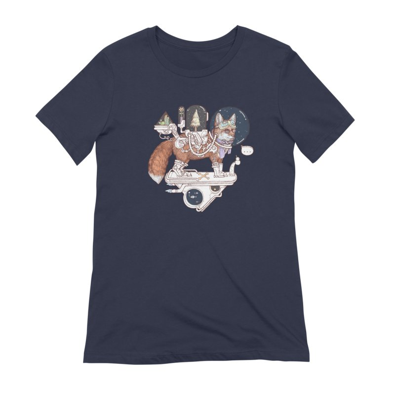 fox space suit Women's Extra Soft T-Shirt by makapa's Artist Shop