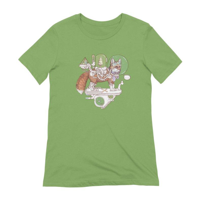 fox space suit Women's Extra Soft T-Shirt by makapa's Artist Shop