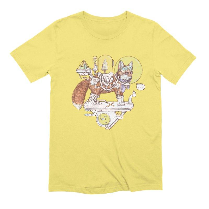 fox space suit Men's Extra Soft T-Shirt by makapa's Artist Shop