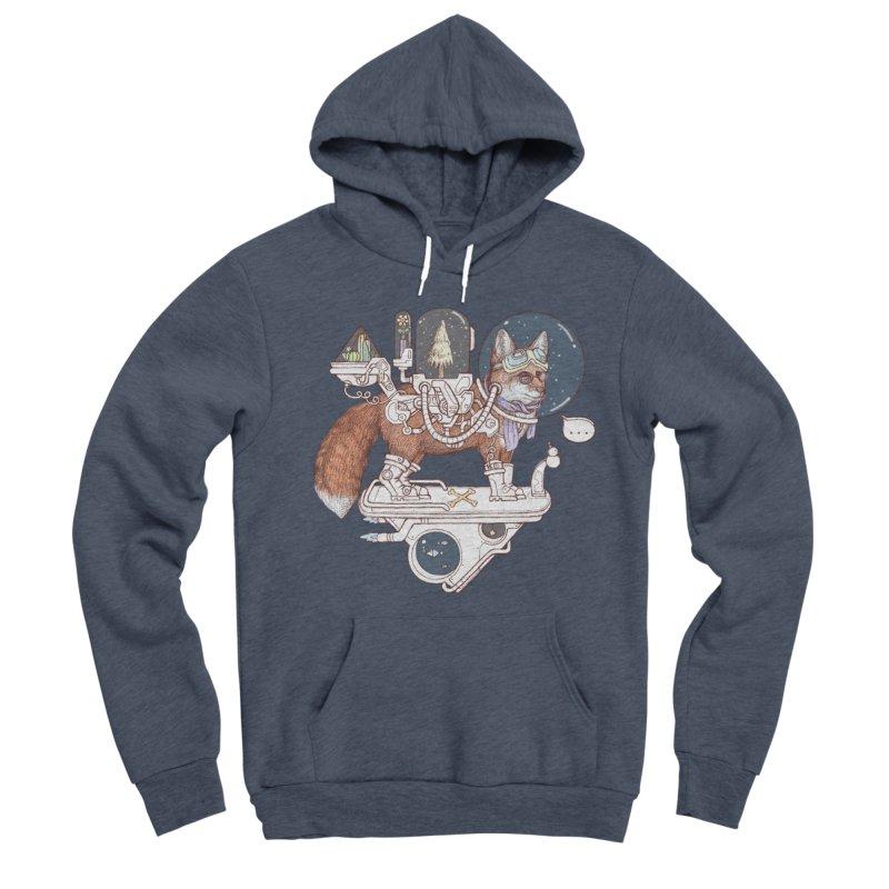 fox space suit Men's Sponge Fleece Pullover Hoody by makapa's Artist Shop
