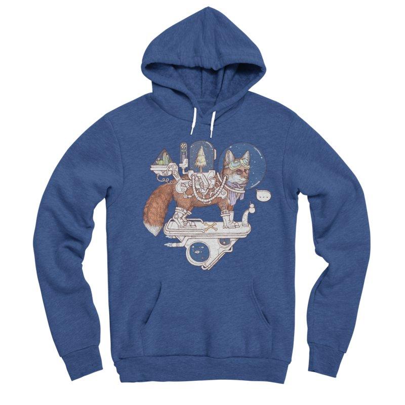 fox space suit Women's Sponge Fleece Pullover Hoody by makapa's Artist Shop