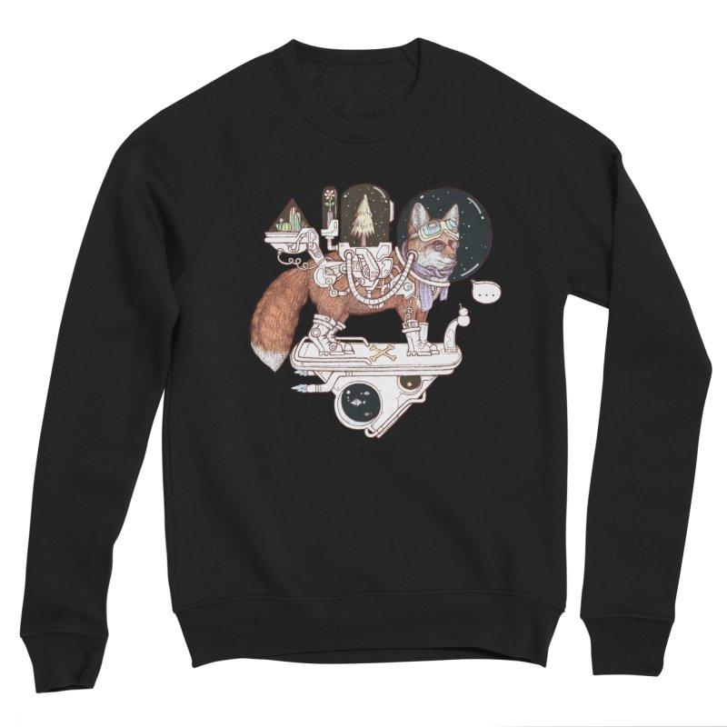 fox space suit Men's Sponge Fleece Sweatshirt by makapa's Artist Shop