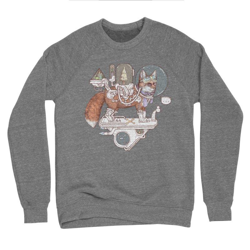 fox space suit Women's Sponge Fleece Sweatshirt by makapa's Artist Shop