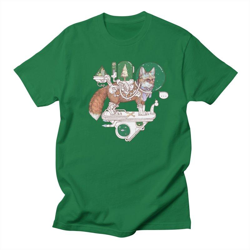 fox space suit Men's T-Shirt by makapa's Artist Shop