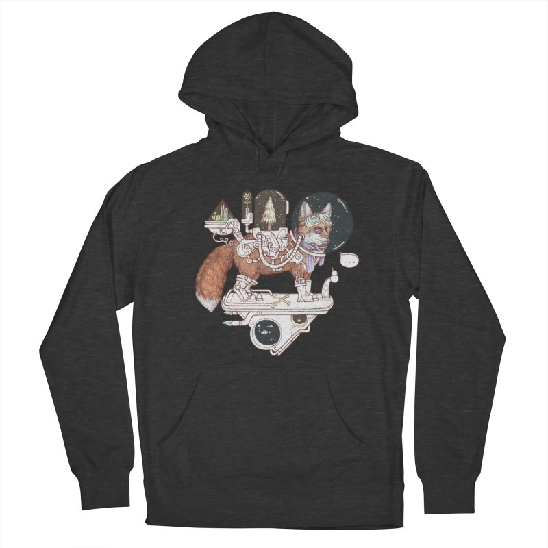 fox space suit Women's French Terry Pullover Hoody by makapa's Artist Shop